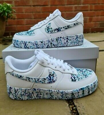 Custom 'Paint Splatter' Nike Air Force 1 (Made To Order) Read Disc For Details • 120£