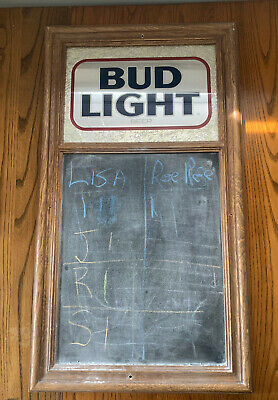 $ CDN156.85 • Buy Vintage 1985 Budweiser BUD LIGHT Bar Sign With Chalkboard Billiards Darts Score