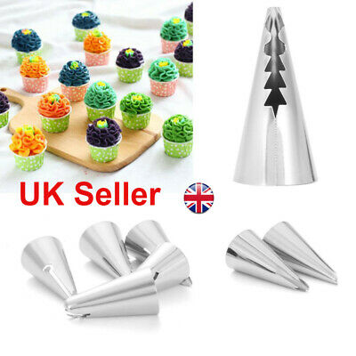 7pcs Russian Leaf Flower Icing Piping Nozzle Tips Cake Topper Baking Tools Decor • 4.64£