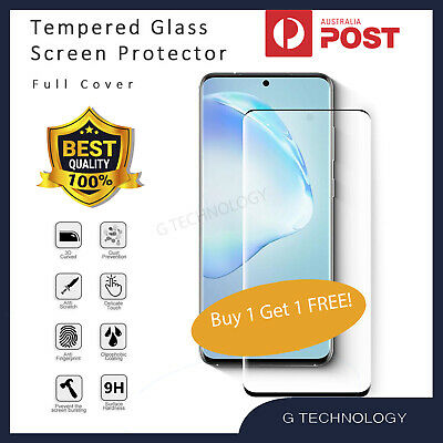 AU6.98 • Buy Full Cover Tempered Glass Screen Protector For Samsung Galaxy S8 S9 S10 5G Plus