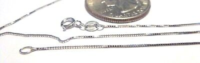 $69.99 • Buy 14Kt White Gold 18 Inch .6MM BOX Chain W/Gift Box ..GAURANTEED....FREE SHIPPING!