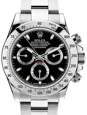 $ CDN27700.20 • Buy Rolex Daytona Chronograph Steel Black Dial Mens Watch & Box 116520