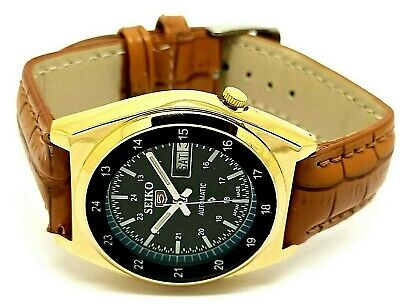 $ CDN37.81 • Buy Seiko 5 Automatic Men's Gold Plated Day/date Mo. 7009 Vintage Japan Watch Run