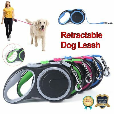 £14 • Buy 8M Dog Leads Retractable Long Extending Tape Cord Strong Pet Training Max 50KG