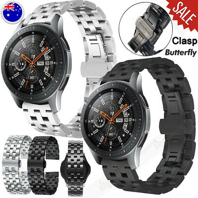 AU20.89 • Buy For Samsung Galaxy Watch 46mm Gear S3 Frontier Stainless Steel Band Metal Strap