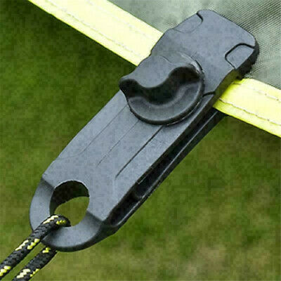 Reusable Tent Tarp Tarpaulin Clip Clamp Buckle Camping Tool Heavy Duty Sale • 7.66£