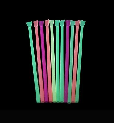 Plastic Slushy Drinking Straws With 2 In 1 Spoon & Straw & Barbeque Straws • 3.65£