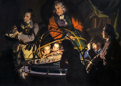 Joseph Wright Of Derby: A Journalist Lecturing On The Orrery. Art Print /poster  • 16.99£