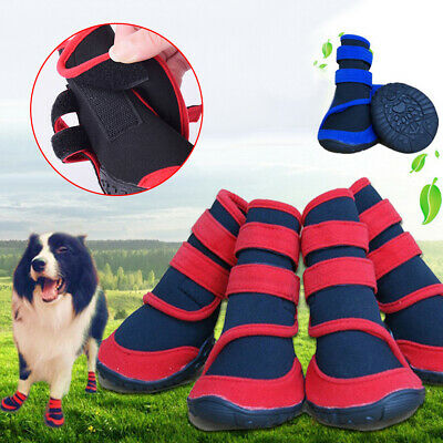 Waterproof Pet Cats Dog Boots Anti-slip Puppy Shoes Rain Snow Booties Footwear • 12.84£