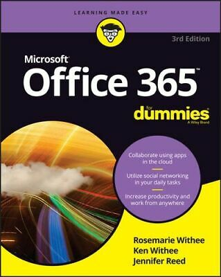 AU39.25 • Buy NEW Office 365 For Dummies By Rosemarie Withee Paperback Free Shipping