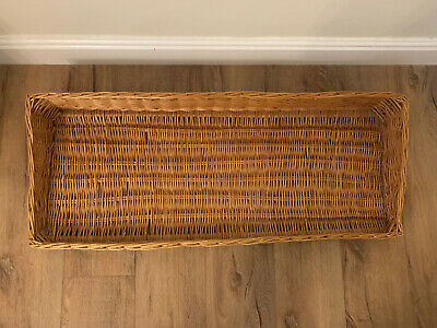 Wicker Basket Underbed Storage Shelf Pet Bed Dog Cats Collect Dalston Carlisle • 24.99£