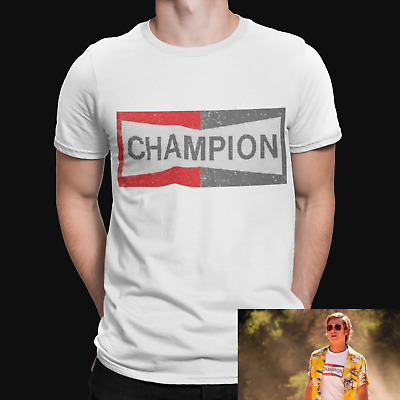 Champion T Shirt Once Upon A Time In Hollywood Brad Pitt Cool Gift Tee • 5.99£
