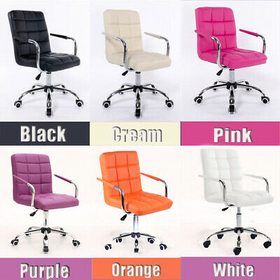 AU79.47 • Buy Swivel Computer Desk Office Study Chair PU Leather Adjustable Chair Fashion Seat