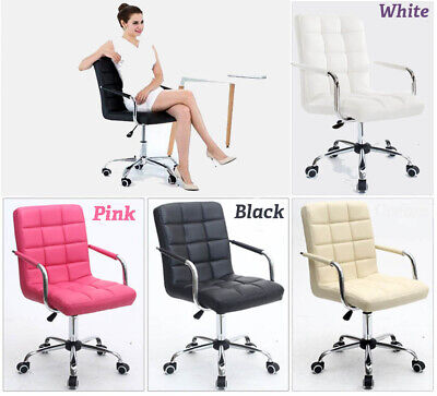 AU92.89 • Buy Home Computer Executive Office Desk Chair Faux Leather PU Swivel High Back Seat.