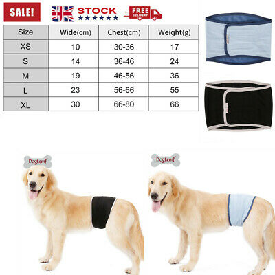 Male Dog Diapers Physiological Sanitary Nursing Nappy Nappies Pants Washable • 7.25£