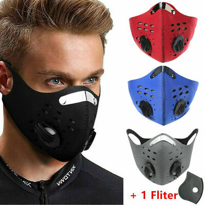 $ CDN12.59 • Buy Reusable Dual Air Breathing Valve Face Mask Cover With Activated Carbon Filter