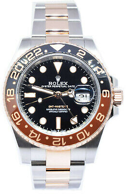 $ CDN24496.32 • Buy Rolex GMT-Master II Root Beer Ceramic 18k Gold Steel Box/Papers 126711CHNR