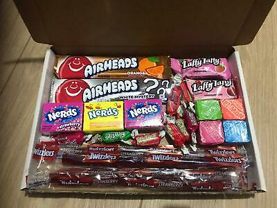 American Sweets Gift Box-USA Candy Hamper-Nerds, Laffy Taffy, Twizzler,airheads • 5.39£