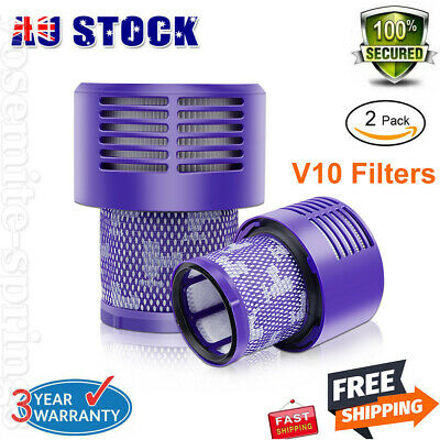 AU24.99 • Buy 2Pcs Filter For DYSON All V10 Series Cyclone Absolute Animal Total Clean SV12 AU