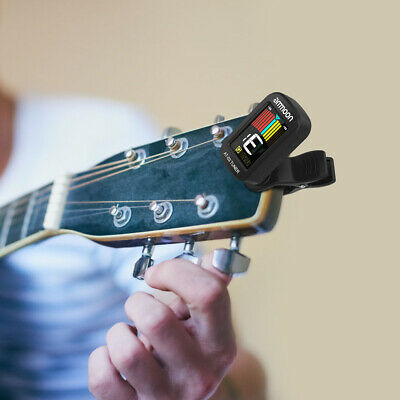 $ CDN9.23 • Buy Ammoon AT-03 Clip-on Electric Tuner 360° Rotatable For Guitar Bass Violin F7C7