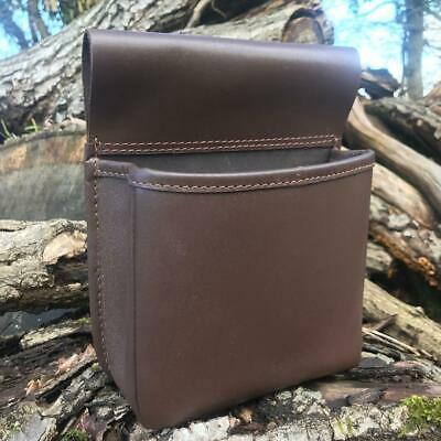 £19.90 • Buy Hand Made Brown Leather Shooting Cartridge Pouch Bag Belt Shell Holder Handy
