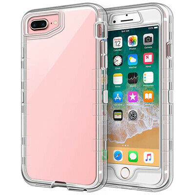 AU15.95 • Buy 3 In 1 Full Body Protective Case Clear Shell Shockproof For IPhone 8 Plus/7 Plus