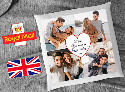 Personalised Mothers Day Photo Cushion Cover Custom Gift Love Couple Present • 8.99£