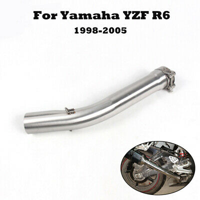$59.57 • Buy For Yamaha YZF R6 1998-2005 Motorcycle Exhaust Mid Connect Link Pipe Slip On