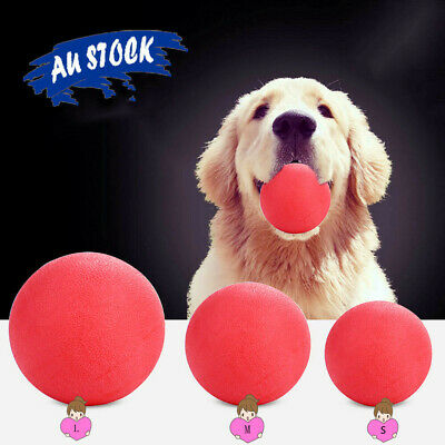 AU7.59 • Buy New Solid Training Toy Rubber Ball Pet Puppy Dog Chew Play Fetch Bite Free Ship