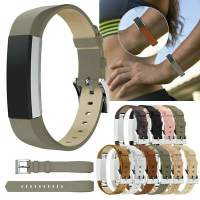 AU14.99 • Buy Replacement Genuine Leather Band Strap For Fitbit Alta / HR Watch Bracelet Belt