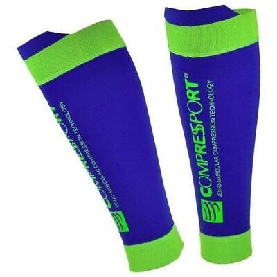 £20.89 • Buy Compressport R2 V2 Compression Calf Guards Blue Improves Blood Flow Recovery