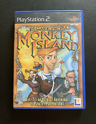 Ps2 Escape From Monkey Island Playstation 2 Game With Manual • 6£