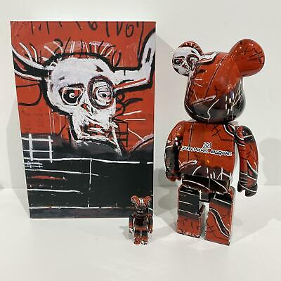 $345 • Buy Medicom BE@RBRICK JEAN-MICHEL BASQUIAT #5 100% + 400% Bearbrick