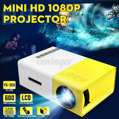AU77.99 • Buy YG300 Mini Portable Pocket 4K HD 1080P Movie Projector Home Theater Cinema HDMI