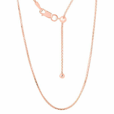 TJC Slider Chain Necklace For Women Rose Gold Plated Sterling Silver Size 24  • 11.99£