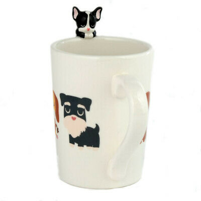 Dog Squad French Bulldog 3d On Handle Rim Of Tea Coffee Mug Cup New In Box • 6.95£