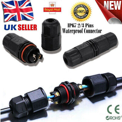 £3.99 • Buy 2 / 3 Pole Core Joint Outdoor IP67 Waterproof Electrical Cable Wire Connector UK