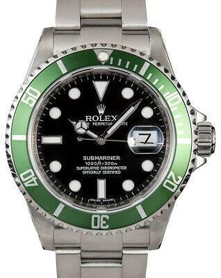 $ CDN23986.58 • Buy Rolex Submariner 16610 Steel Green  Kermit  Watch Box/Papers V 16610LV