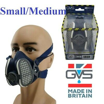 GVS Elipse SPR299 P3 Reusable Half Mask Small/Medium With Filters Made In The UK • 21.95£