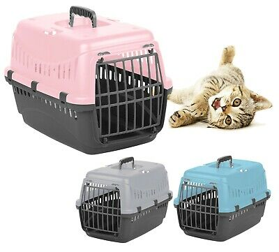 Large Cat Transporter Carrier Puppy Portable Pet Cage Box Travel Crate Vet Safe • 12.99£
