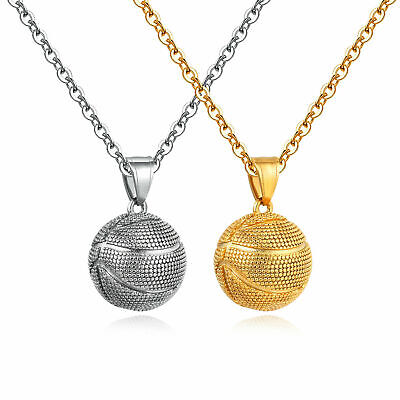 $12.29 • Buy Basketball Necklace Hip Hop Sports Pendant Fitness Jewelry Basketball Lover Gift