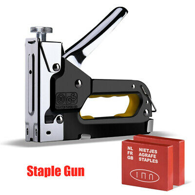 Heavy Duty Stainless Steel Metal Staple Tacker Gun With 600 Staples • 13.39£