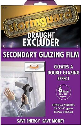 £9.95 • Buy Stormguard 6 M² Secondary Double Glazing Window Insulation Film Draught Excluder