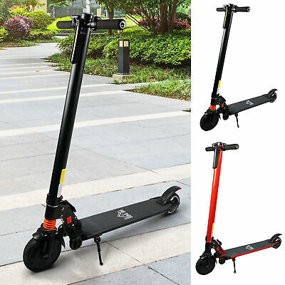 View Details Electric Scooter Folding Adjustable Speed W/ Light Black/Red • 174.99£