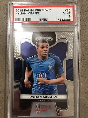 $ CDN408.12 • Buy Kylian Mbappe 2018 Panini Prizm World Cup #80 Rc Rookie France Psa 9 Mint💎💎