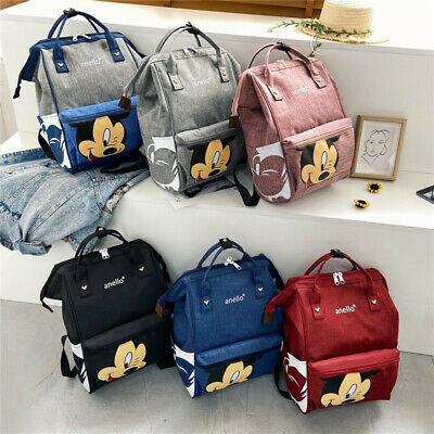 Multi-use Mickey Large Mummy Baby Diaper Nappy Backpack Mom Changing Travel Bag • 12.53£