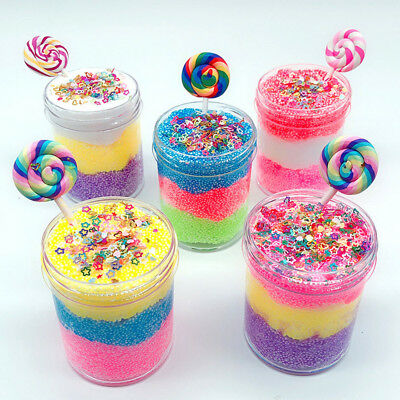 AU11.58 • Buy 5 Color Candy Bead Cloud Slime Puff Fluffy Mud Stress Relief Kids Clay Toy  K%