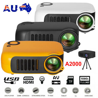 AU72 • Buy Mini Portable Pocket Projector HD 1080P LED Home Theater Video Projector HDMI AU