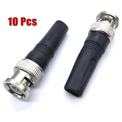 $ CDN6.83 • Buy 10Pcs Bnc Male Connector For Twist-On Coaxial Rg59 Cable CCTV Solderless Plug Ha