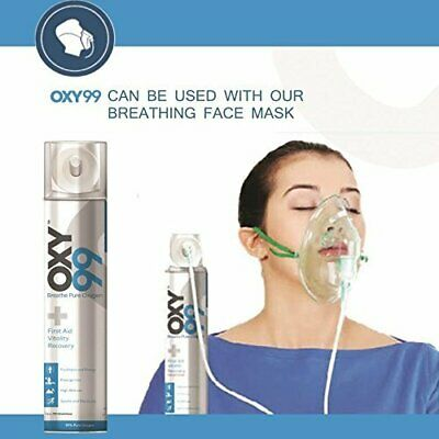 2 X Oxy99 Portable Oxygen Cylinder / Can By OXY99 WITH MASK FREE • 38.50£